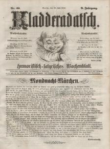 Kladderadatsch, 9. Jahrgang, 20. Juli 1856, Nr. 33