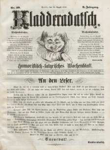 Kladderadatsch, 9. Jahrgang, 24. August 1856, Nr. 39