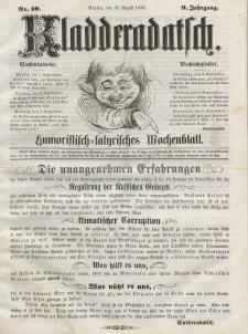 Kladderadatsch, 9. Jahrgang, 31. August 1856, Nr. 40