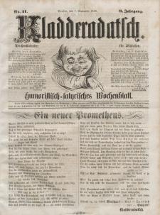 Kladderadatsch, 9. Jahrgang, 7. September 1856, Nr. 41