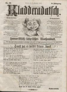 Kladderadatsch, 9. Jahrgang, 9. November 1856, Nr. 52