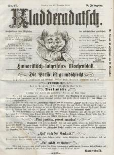 Kladderadatsch, 9. Jahrgang, 14. Dezember 1856, Nr. 57