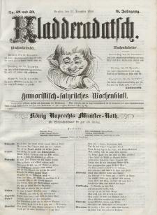 Kladderadatsch, 9. Jahrgang, 21. Dezember 1856, Nr. 58/59