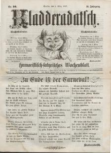 Kladderadatsch, 10. Jahrgang, 1. März 1857, Nr. 10
