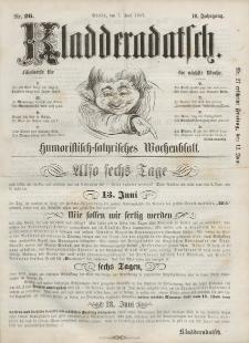 Kladderadatsch, 10. Jahrgang, 7. Juni 1857, Nr. 26