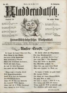 Kladderadatsch, 10. Jahrgang, 13. Juni 1857, Nr. 27