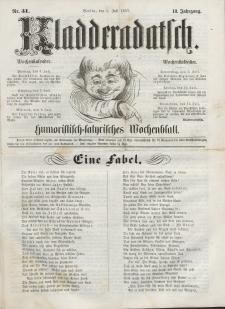 Kladderadatsch, 10. Jahrgang, 5. Juli 1857, Nr. 31