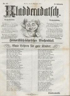Kladderadatsch, 10. Jahrgang, 6. September 1857, Nr. 41