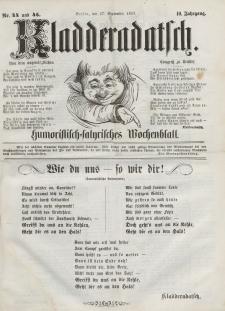 Kladderadatsch, 10. Jahrgang, 27. September 1857, Nr. 44/45