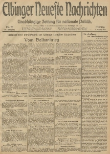Elbinger Neueste Nachrichten, Nr. 75 Montag 17 März 1913 65. Jahrgang