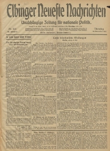 Elbinger Neueste Nachrichten, Nr. 323 Dienstag 25 November 1913 65. Jahrgang