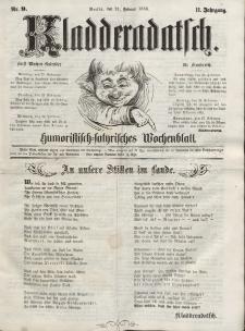 Kladderadatsch, 11. Jahrgang, 21. Februar 1858, Nr. 9