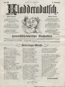 Kladderadatsch, 11. Jahrgang, 4. April 1858, Nr. 16