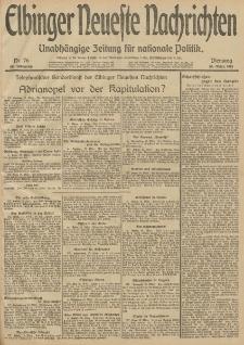 Elbinger Neueste Nachrichten, Nr. 76 Dienstag 18 März 1913 65. Jahrgang