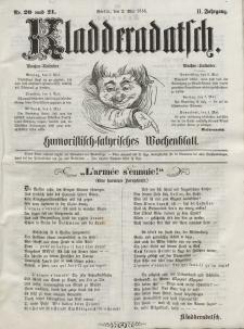 Kladderadatsch, 11. Jahrgang, 2. Mai 1858, Nr. 20/21
