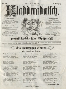 Kladderadatsch, 11. Jahrgang, 16. Mai 1858, Nr. 23