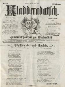 Kladderadatsch, 11. Jahrgang, 6. Juni 1858, Nr. 26