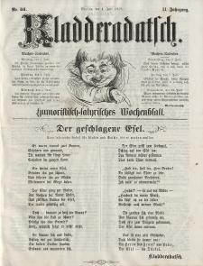 Kladderadatsch, 11. Jahrgang, 4. Juli 1858, Nr. 31
