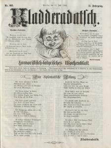 Kladderadatsch, 11. Jahrgang, 11. Juli 1858, Nr. 32