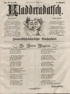 Kladderadatsch, 11. Jahrgang, 15. August 1858, Nr. 37/38