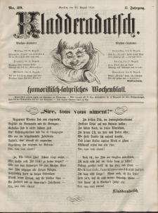 Kladderadatsch, 11. Jahrgang, 22. August 1858, Nr. 39