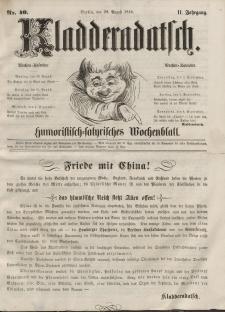 Kladderadatsch, 11. Jahrgang, 29. August 1858, Nr. 40