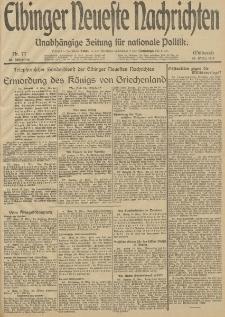 Elbinger Neueste Nachrichten, Nr. 77 Mittwoch 19 März 1913 65. Jahrgang