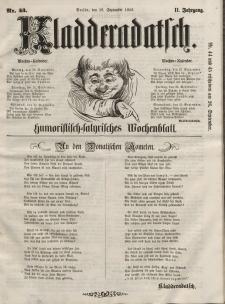 Kladderadatsch, 11. Jahrgang, 19. September 1858, Nr. 43