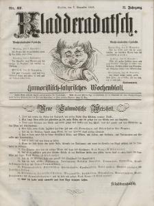 Kladderadatsch, 11. Jahrgang, 7. November 1858, Nr. 52