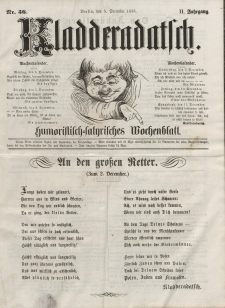 Kladderadatsch, 11. Jahrgang, 5. Dezember 1858, Nr. 56
