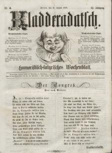 Kladderadatsch, 12. Jahrgang, 16. Januar 1859, Nr. 3