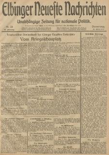 Elbinger Neueste Nachrichten, Nr. 78 Donnerstag 20 März 1913 65. Jahrgang