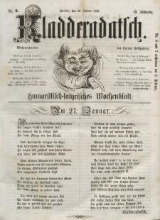 Kladderadatsch, 12. Jahrgang, 30. Januar 1859, Nr. 5