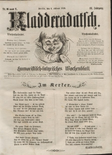 Kladderadatsch, 12. Jahrgang, 6. Februar 1859, Nr. 6/7
