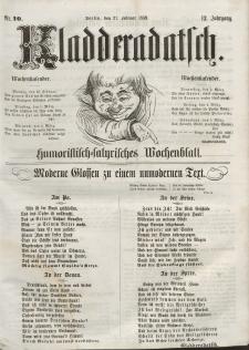 Kladderadatsch, 12. Jahrgang, 27. Februar 1859, Nr. 10