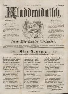 Kladderadatsch, 12. Jahrgang, 13. März 1859, Nr. 12