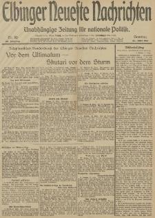 Elbinger Neueste Nachrichten, Nr. 80 Sonntag 23 März 1913 65. Jahrgang
