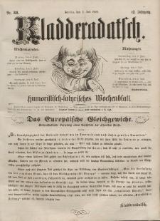 Kladderadatsch, 12. Jahrgang, 3. Juli 1859, Nr. 31