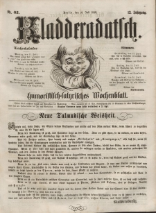 Kladderadatsch, 12. Jahrgang, 10. Juli 1859, Nr. 32