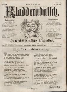 Kladderadatsch, 12. Jahrgang, 17. Juli 1859, Nr. 33