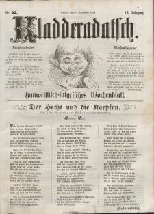 Kladderadatsch, 12. Jahrgang, 11. September 1859, Nr. 42
