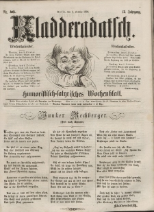 Kladderadatsch, 12. Jahrgang, 2. Oktober 1859, Nr. 46
