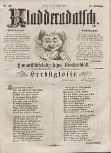 Kladderadatsch, 12. Jahrgang, 16. Oktober 1859, Nr. 48