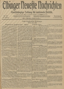 Elbinger Neueste Nachrichten, Nr. 327 Sonnabend 29 November 1913 65. Jahrgang