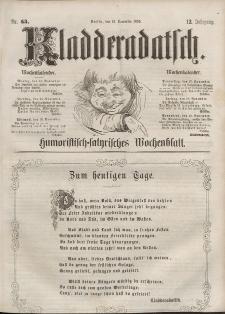 Kladderadatsch, 12. Jahrgang, 13. November 1859, Nr. 53