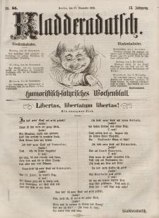 Kladderadatsch, 12. Jahrgang, 27. November 1859, Nr. 55