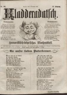 Kladderadatsch, 12. Jahrgang, 11. Dezember 1859, Nr. 57