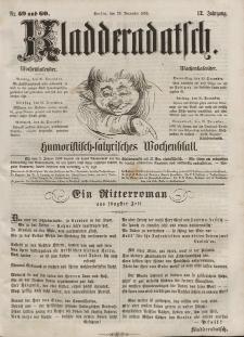 Kladderadatsch, 12. Jahrgang, 25. Dezember 1859, Nr. 59/60
