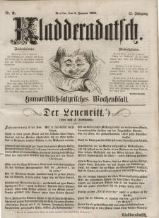 Kladderadatsch, 13. Jahrgang, 8. Januar 1860, Nr. 2