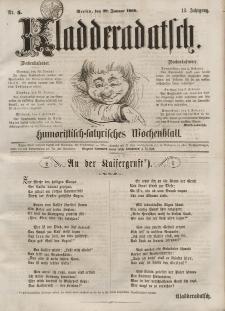 Kladderadatsch, 13. Jahrgang, 29. Januar 1860, Nr. 5
